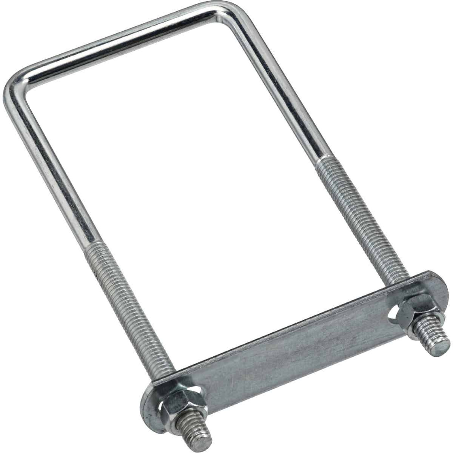 National 3/8 In. x 3 In. x 7 In. Zinc Square U Bolt Image 1