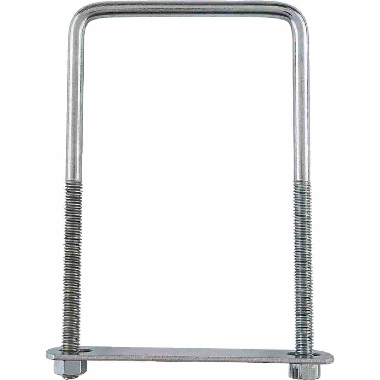 National 3/8 In. x 4 In. x 7 In. Zinc Square U Bolt Image 2