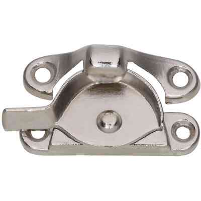 National Nickel 7/8 In. Crescent Sash Lock