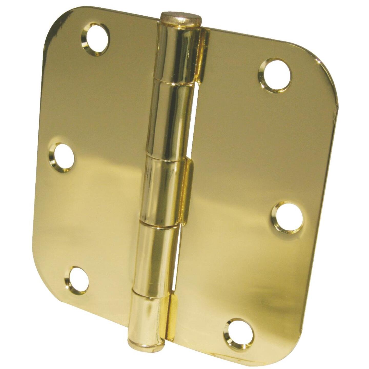 Ultra Hardware 3-1/2 In. x 5/8 In. Radius Polished Brass Door Hinge (3-Pack) Image 1
