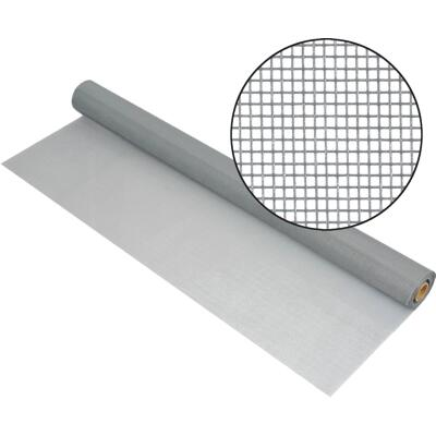 Phifer 60 In. x 100 Ft. Gray Fiberglass Mesh Screen Cloth