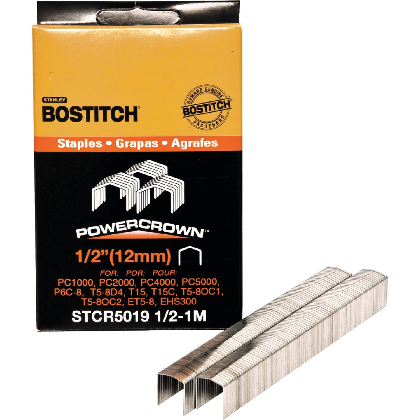 Bostitch Powercrown Hammer Tacker Staple, 1/2 In. (1000-Pack) Image 1