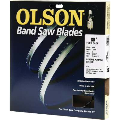 Olson 80 In. x 1/4 In. 6 TPI Skip Flex Back Band Saw Blade