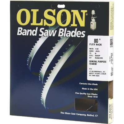 Olson 80 In. x 1/8 In. 14 TPI Regular Flex Back Band Saw Blade