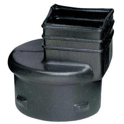 Advanced Drainage Systems 3 In. X 4 In. X 4 In. Polyethylene Corrugated to Downspout Barb X Female Adapter