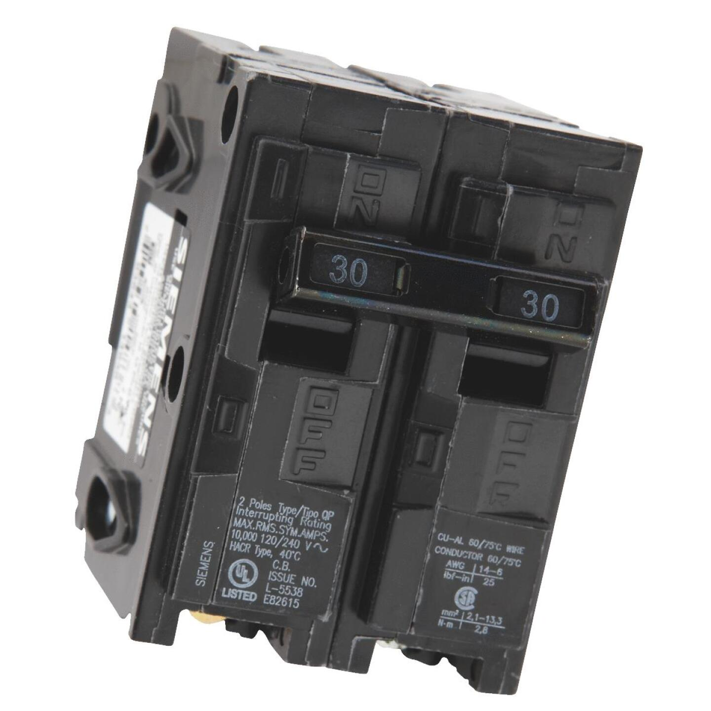 Connecticut Electric 30A Double-Pole Standard Trip Interchangeable Packaged Circuit Breaker Image 4
