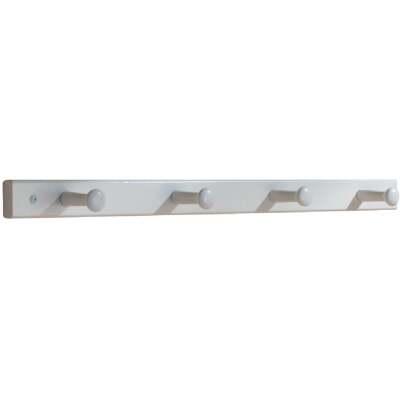 Interdesign White Wood 4-Peg Rack