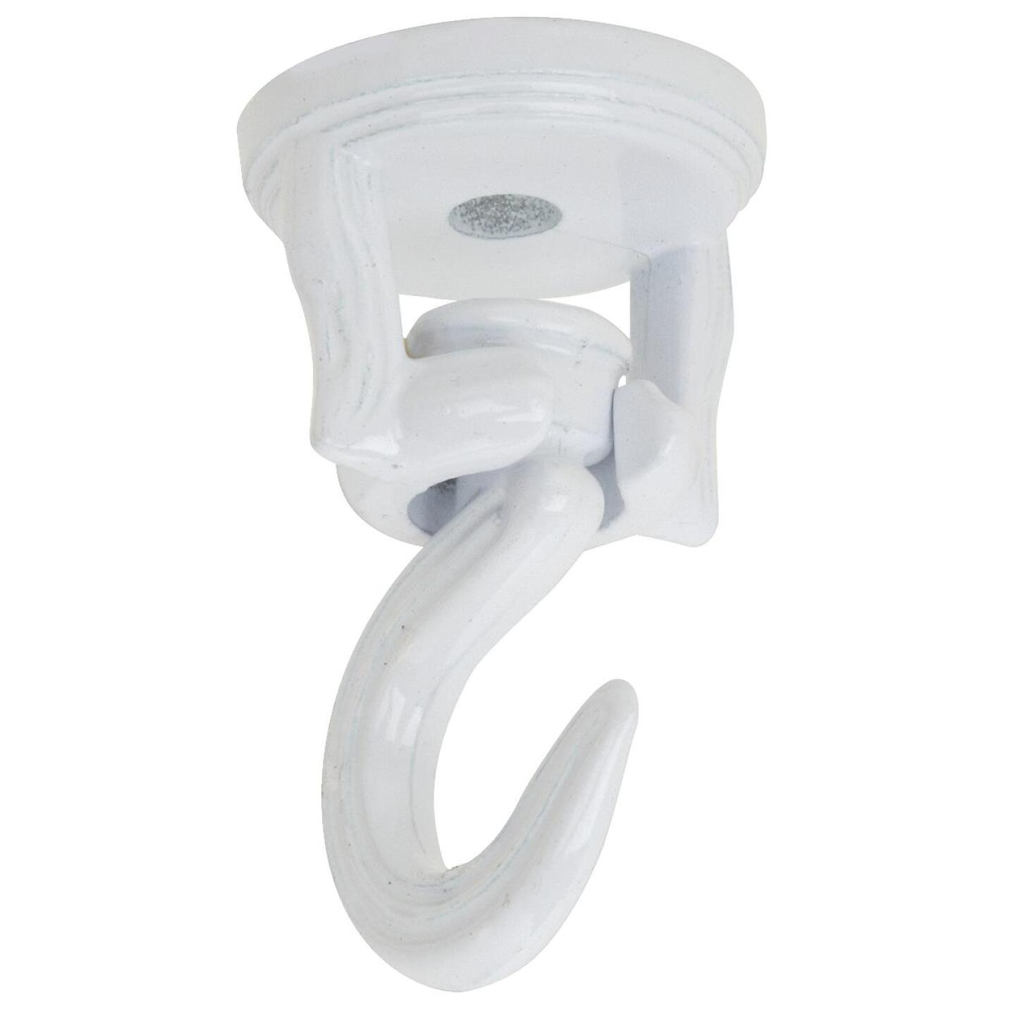 National 2 In. White Die Cast Swivel Swag Hook (2-Pack) Image 3