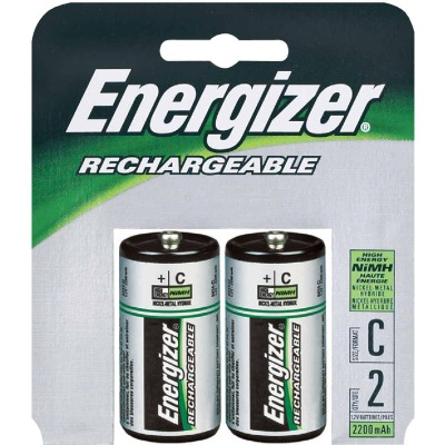 Energizer Recharge C NiMH Rechargeable Battery (2-Pack)